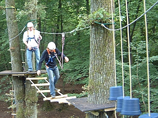 picture of one part of the high-rope course